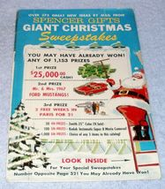 Vintage Ephemera Spencer Gifts Christmas Mail Order Catalog 1966 - $9.95