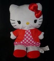 "18"" BIG SANRIO 2012 HELLO KITTY RED POLKA DOTS STUFFED ANIMAL PLUSH TOY ... - $21.04"