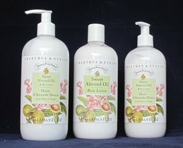 Crabtree EVELYN Body Lotion Sweet Almond Oil 16.9 oz Drawn from Nature L... - $56.40