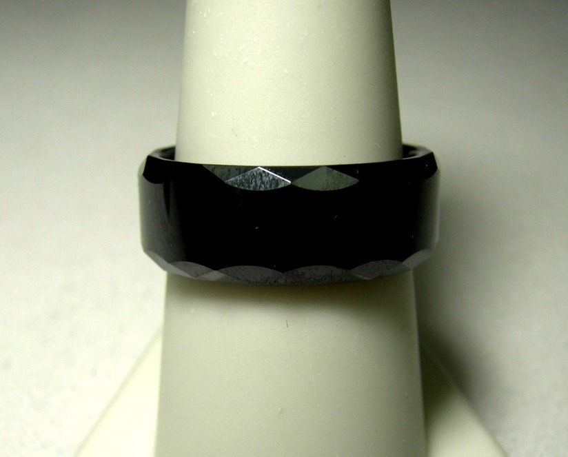 Ceramic Ring Black Wedding Band Assorted  Sizes Comfort Fit  New