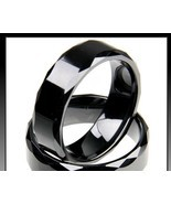 Ceramic Ring Black Wedding Band Assorted  Sizes... - $25.99