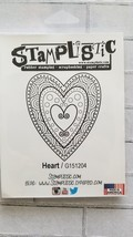 Heart, Petite. Stamplistic Layering Stamps. Stained Glass.  CLEARANCE image 2