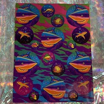 Rare HTF Vintage Lisa Frank Sticker Sheet Sharks In Circles image 1