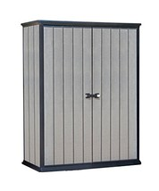 Keter High Store 4.5 x 2.5 Vertical Outdoor Resin Storage Shed, Grey - $454.94