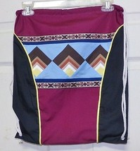 Native American Seminole Patchwork Back Pack Book Bag Wild Turkey Tail B... - $49.99