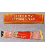 Vintage Lever Brothers Lifebuoy Shaving Cream Tube and Box ca 1940's - $19.95