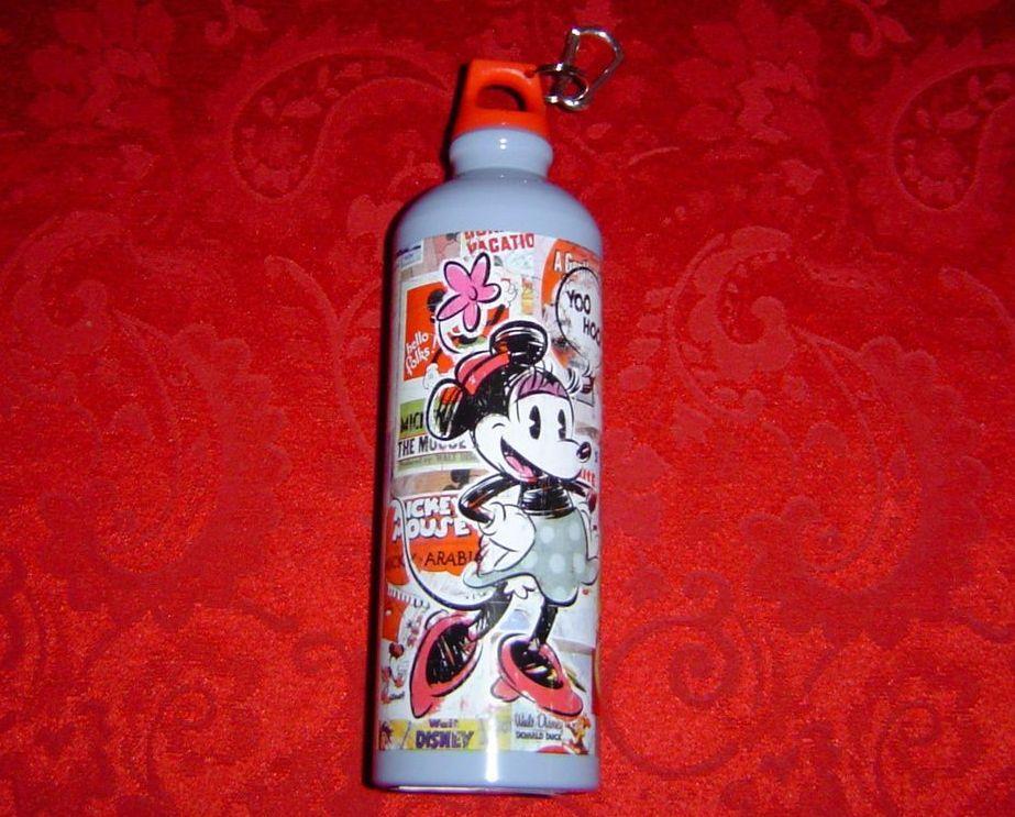 Disney Nostalgia Aluminum Minnie Mouse Water Bottle