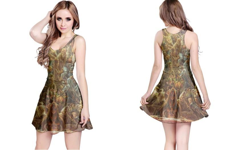 New the legend of zelda elf reversible dress