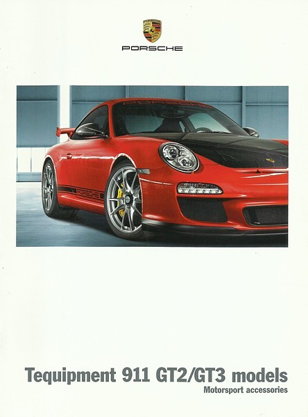 2011 2012 porsche 911 gt3 gt2 rs tequipment parts accessories brochure catalog porsche. Black Bedroom Furniture Sets. Home Design Ideas