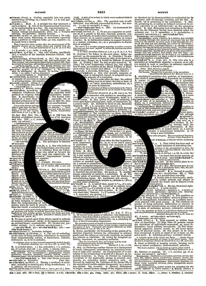 Fancy AMPERSAND AND Symbol Vintage Dictionary Page Art Print No. 0142