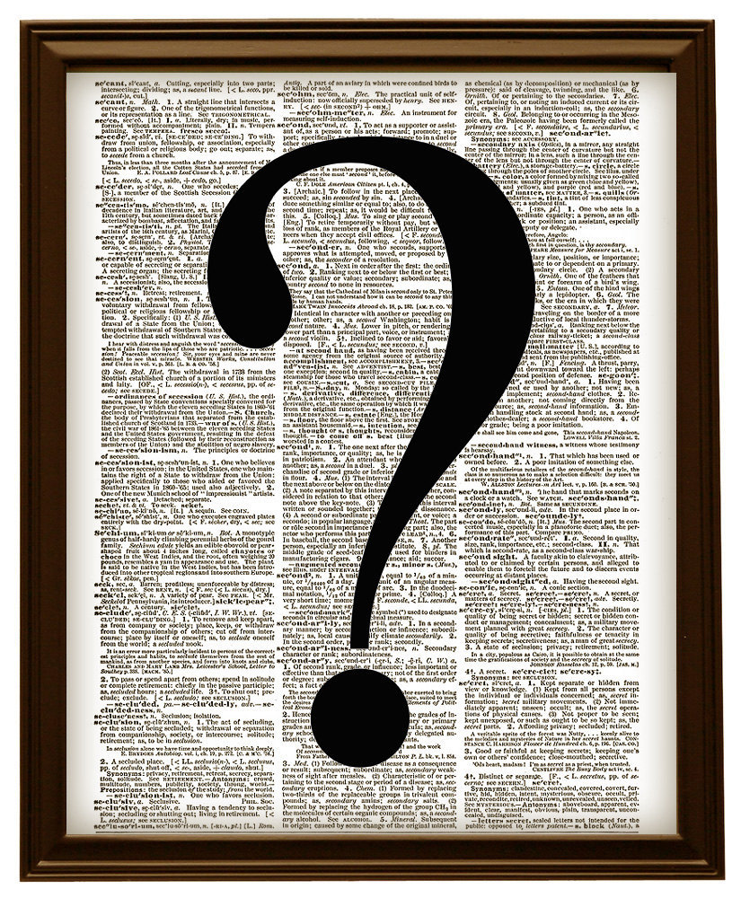 QUESTION MARK Symbol Vintage Dictionary Page Art Print No. 0140
