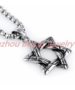 Stainless Steel 316L Star Of David w Rolo Chain - $23.76