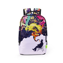 colorful personality abstract paint leisure student school backpack - $26.00