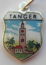 Tangier MOROCCO Scene Silver Enamel Travel Shie... - $29.95