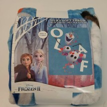 "NEW Disney FROZEN 2 OLAF Silky Soft THROW BLANKET 40"" x 50"" Olaf's Adven... - $14.24"