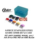 OSTER 8pc STAINLESS STEEL GUIDE Blade COMB SET Fit A5,A6,Many Andis,Wahl... - $71.78