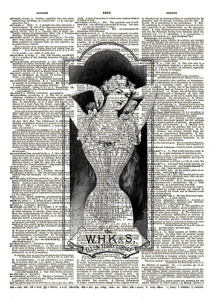 WOMAN Wearing a CORSET Vintage Dictionary Art Print No. 0108