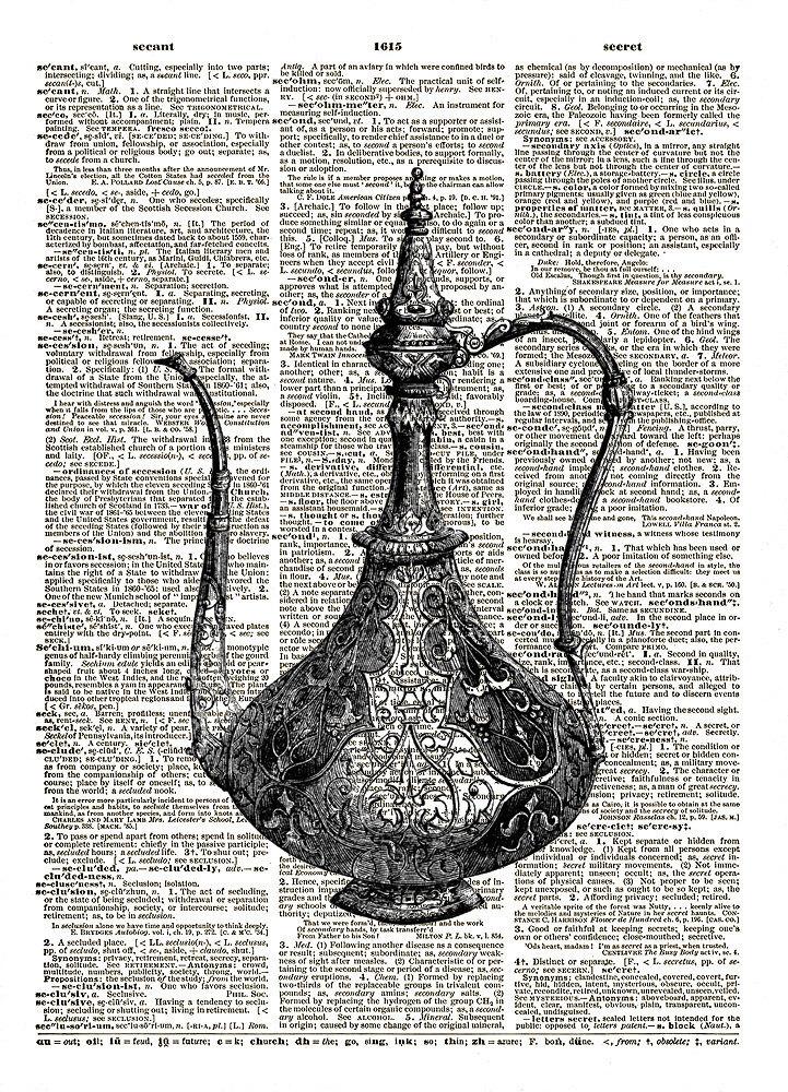 ANTIQUE COFFEE POT Vintage Dictionary Page Art Print No. 0096