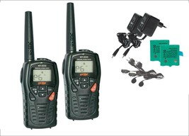 PAIR INTEK MT3030 PMR/LPD VOX WHIT CHARGER + EAR MIC  WALKIE TALKIE  MAX... - $89.25