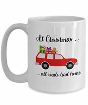 At Christmas All Roads Lead Home Mug Red Truck Coffee Cup for Son-in-law... - $16.78