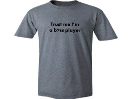 Trust me I'm a bass player great bassist guitar gift gray 100% cotton t ... - $16.99+
