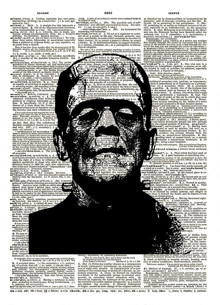 FRANKENSTEIN Monster Boris Karloff Movie Halloween Dictionary Art Print No. 0082