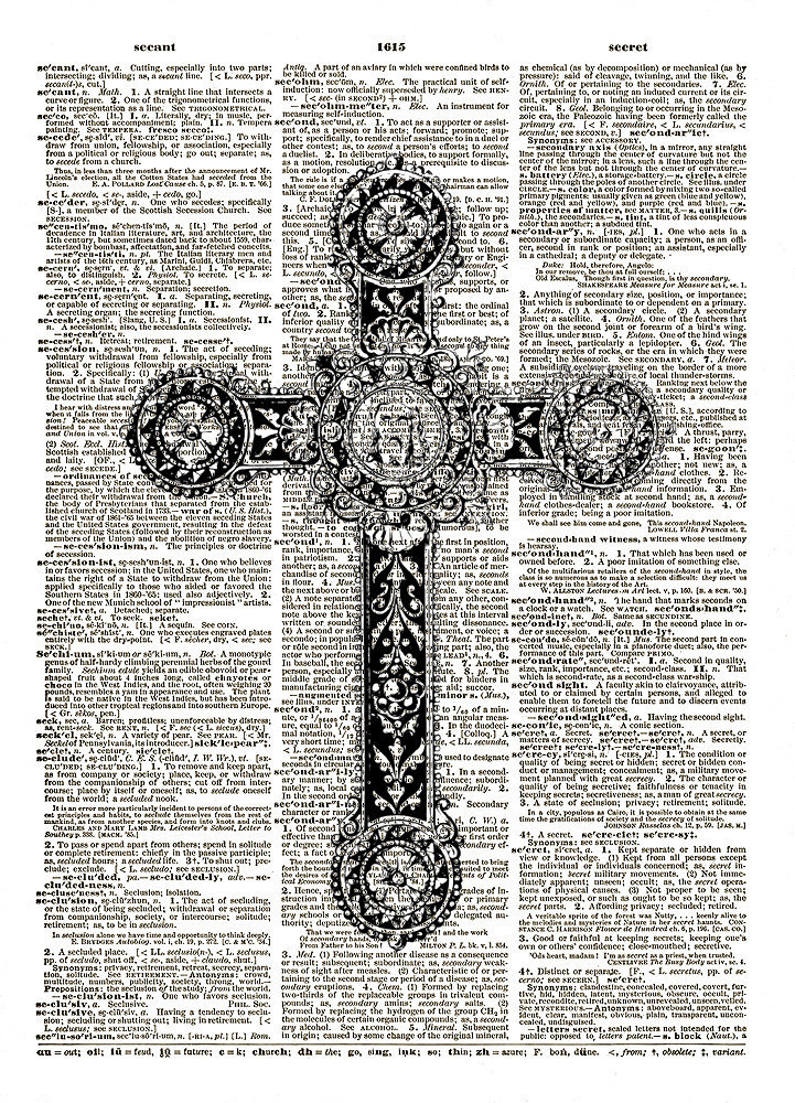 Lovely CHRISTIAN CROSS Antique Necklace Pendant Dictionary Art Print No. 0080
