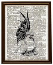 ROOSTER Bird Farm Animal Vintage Dictionary Art... - $12.00