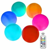 Aokely Flashing LED Ball Light, Floating Pool Lights 6pack Waterproof Mo... - $30.59