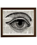 Large HUMAN EYE with Eyebrow Vintage Dictionary Page Art Print No. 00 - $12.00