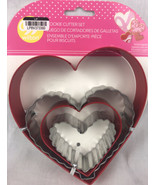 Wilton Nesting Heart Cookie Cutters 4 pc Set  2 Shapes 4 Sizes - $5.90