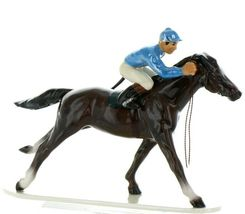 Hagen Renaker Specialty Horse with Jockey Racing Ceramic Figurine image 8