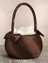 brown flower girl basket  wedding flower girl basket - $6.38