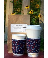 Cozy to Go Cup Wrap Puppy Paws Patriotic Blue PPPB1 - $10.00