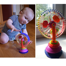 Baby Toy Three-color model Rotating Windmill Noria Stroller Dining Chair - $10.68