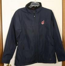 Cleveland Indians Chief Wahoo Baseball Antigua Zip Coat Jacket Navy Blue Women L - $79.19