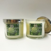 2 Bath & Body Works Slatkin Co. Drenched Apple Flower Medium Scented Can... - $19.79