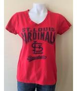 General Merchandise St. Louis Cardinals Women's Red V-Neck T-Shirt Size ... - $14.01