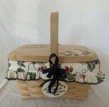 Longaberger Natural Spring Basket Make A Basket Liner Protector Lid Divider - $58.80
