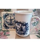 Dutch Holland Coffee Mug Tea Cup Cup SS Rotterdam Coaster Windmill Souve... - $12.99