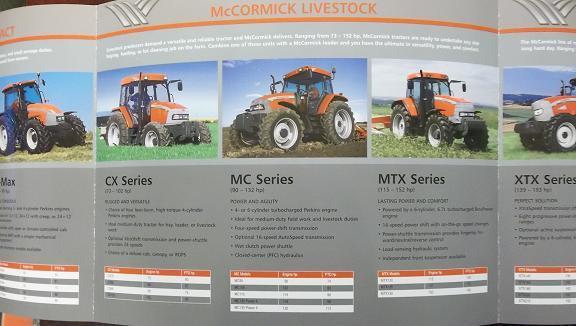 2008 McCormick Tractors Full Line Brochure