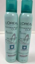 2  L'Oreal Paris Hair Care Expert Extraordinary Clay Dry Shampoo 4 oz ea... - $15.25