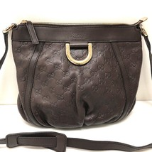 AUTHENTIC GUCCI Abbey Sima Line Shoulder Bag Dark Brown Leather 203257  - $550.00