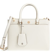 Small Robinson Double-Zip Leather Tote TORY BURCH White NEW 2018  - $380.00