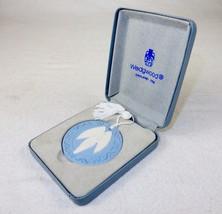 Angel Ornament/Medallion ~ Blue Wedgwood Jasperware , 1989, w/Tassel & G... - $48.95