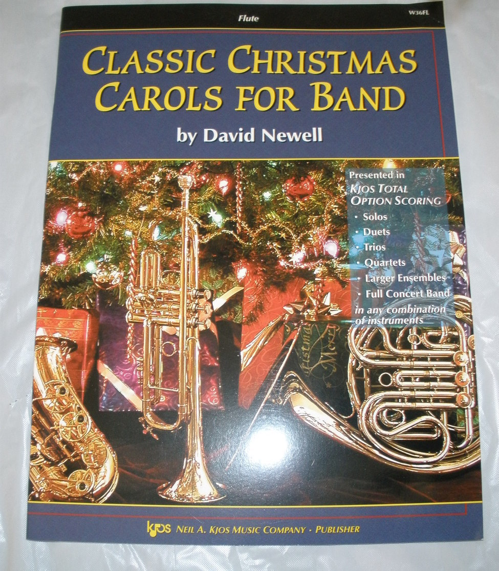 Primary image for Classic Christmas Carols for Band - Newell - Flute Book