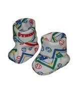 Preemie & Newborn Boys Baseball Booties for Babies  - $8.00