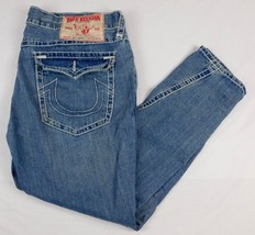 True Religion Joey Super T Blue Denim Jeans Row 42 Seat 33  W 45  L 33 - $44.99