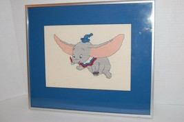 1980 Vintage Disney Dumbo Needlepoint Well done in Metalized frame - £19.81 GBP