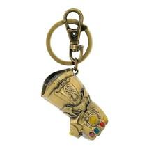Avengers Infinity War Thanos Glove Gauntlet Keychain Gold - $11.98